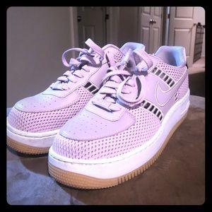 Nike Airforce 1 Lavender Mesh Sneakers